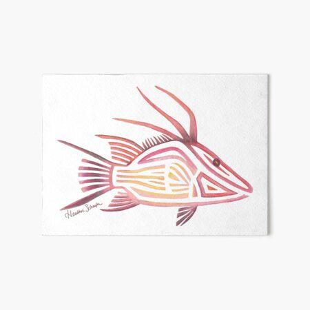 Tribal Hogfish Art Board Print
