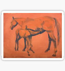 Mother and foal Sticker