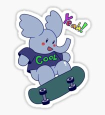 Yeah! Cool Elephant Sticker