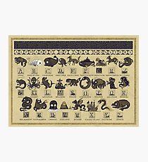 Alphabet der Seeungeheuer Fotodruck