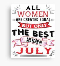 JULY WOMAN Canvas Print