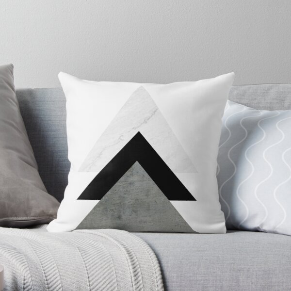 Arrows Collages Monochrome Throw Pillow