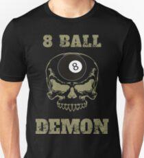 8 Ball Demon Billiards Funny Billiards T-shirt Unisex T-Shirt