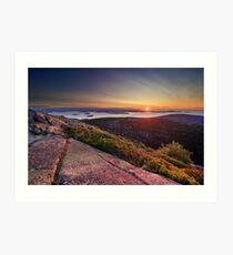 Sunrise from Cadillac Mountain, Acadia National Park, Maine Art Print