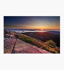 Sunrise from Cadillac Mountain, Acadia National Park, Maine Photographic Print