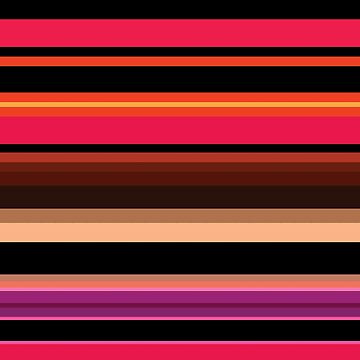 Bright colorful striped pattern by BOCHERINI