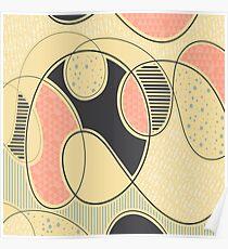 Kontinuierlich - Gelb / Schwarz / Pink Poster