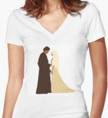 Anakin and Padme Women's Fitted V-Neck T-Shirt