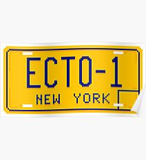 ECTO-1 Pixel Plate Poster
