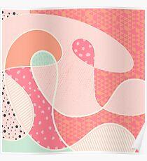 Kontinuierlich - Orange / Pink / Mint Poster
