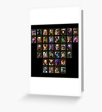 Mortal Kombat Trilogy - Character Select Greeting Card