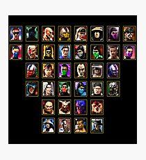 Mortal Kombat Trilogy - Character Select Photographic Print