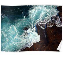 Salty water & rocks Poster
