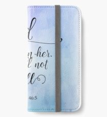 God Is Within Her Christian Art Design iPhone Wallet/Case/Skin