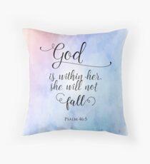 God Is Within Her Christian Art Design Floor Pillow