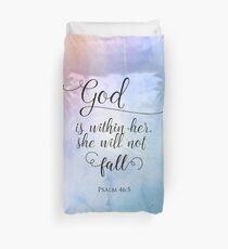God Is Within Her Christian Art Design Duvet Cover