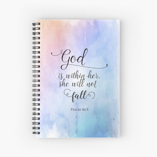 God Is Within Her Christian Art Design Spiral Notebook