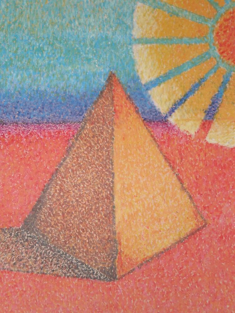 pyramid oil pastel dot by Samoore