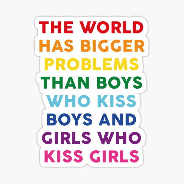 The World Has Bigger Problems  Sticker