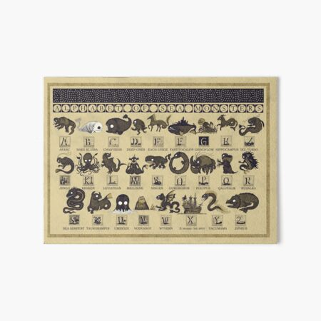 Alphabet of Sea Monsters Art Board Print