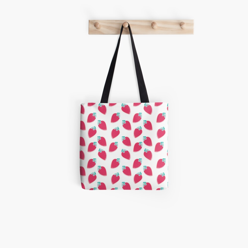 Cute Strawberry Fruit Pattern Tote Bag