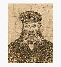 Portrait of the Postman Joseph Roulin by Van Gogh  Photographic Print