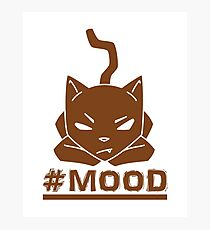 #MOOD Cat Brown Photographic Print
