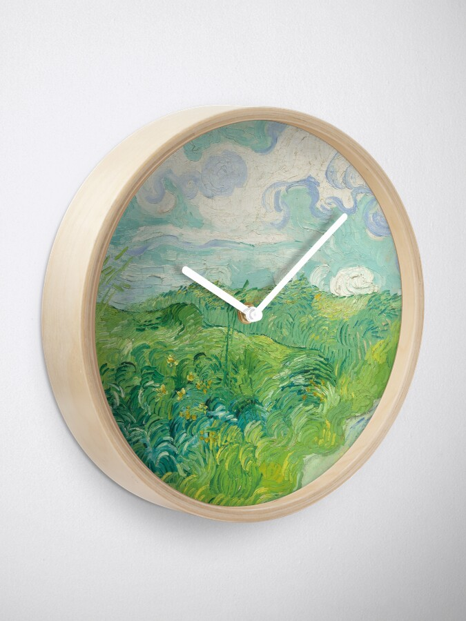 Alternate view of Vincent Van Gogh Green Wheat Fields, Auvers 1890  Clock