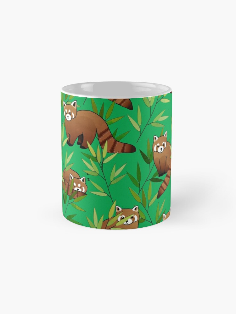 Alternate view of Red Panda & Bamboo Leaves Pattern Mug