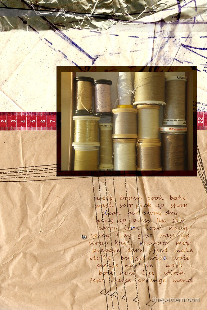 Domesticity Collage No 2 - Sewing by thepatternroom