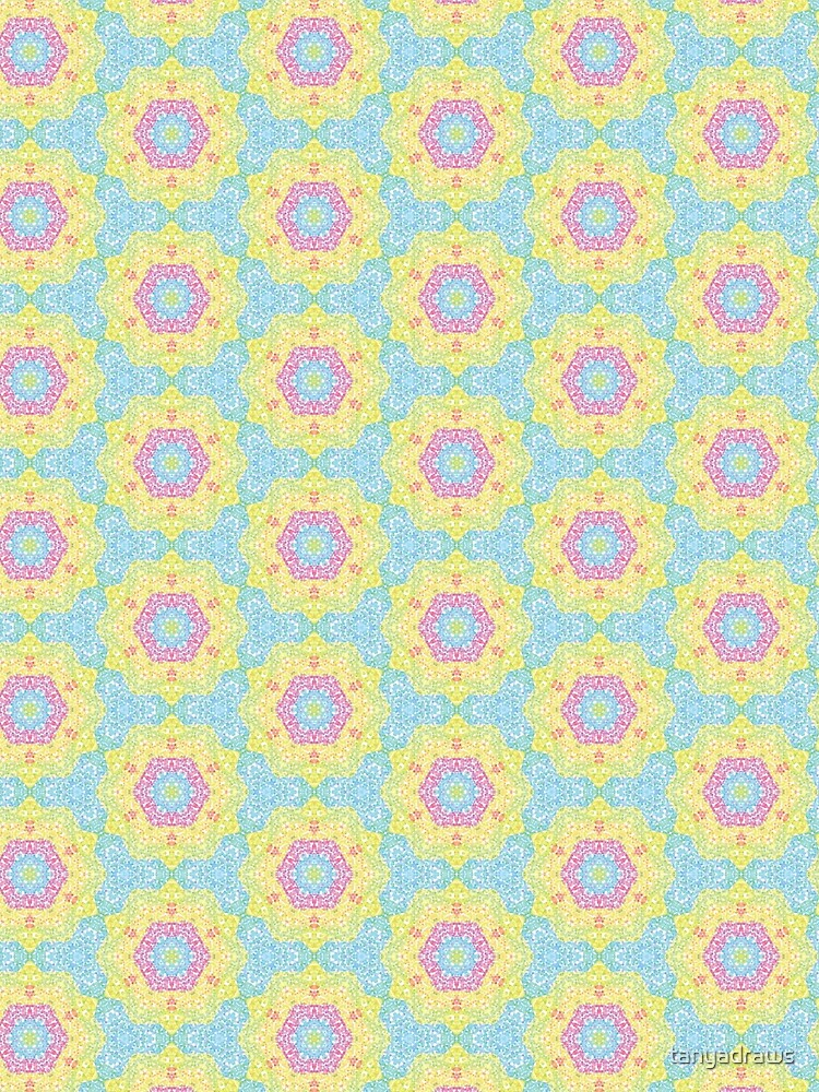Pointilize Rainbow Burst Pattern by tanyadraws