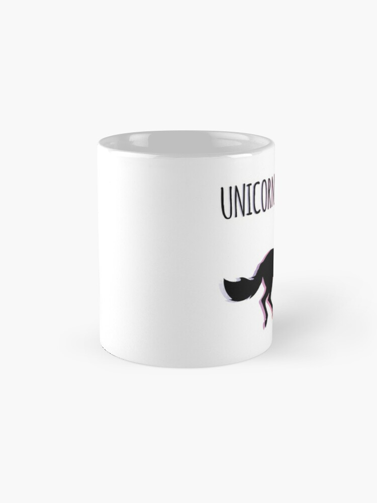 Alternate view of Unicorns are Real Rainbow Version Mug