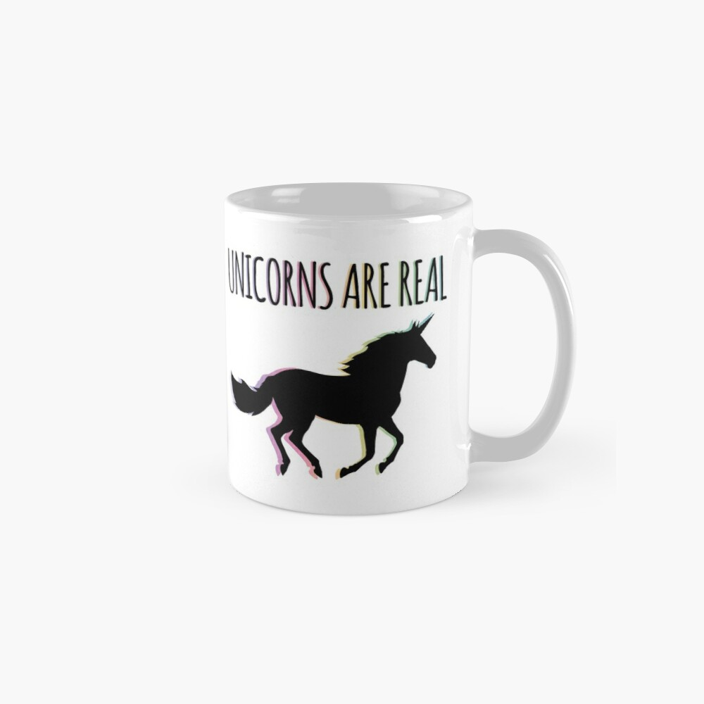 Unicorns are Real Rainbow Version Mug