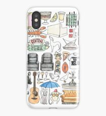 FRIENDS flatlay illustration central perk quote  iPhone Case/Skin
