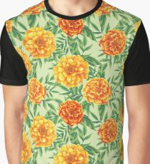 Marigold Pattern Graphic T-Shirt