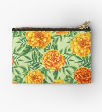 Marigold Pattern Zipper Pouch