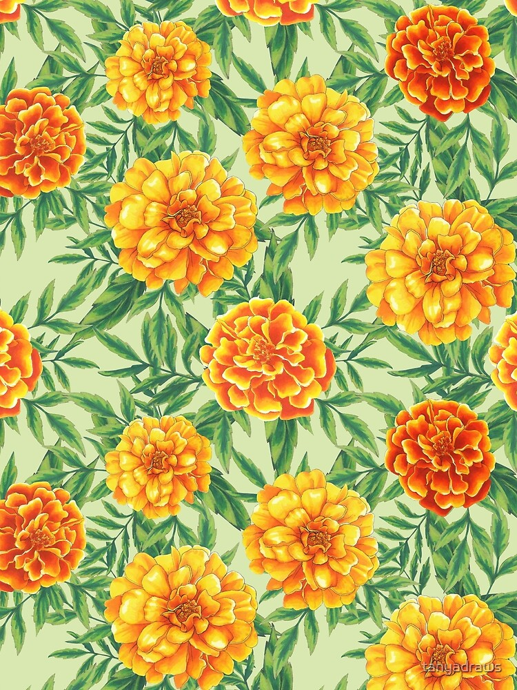 Marigold Pattern by tanyadraws
