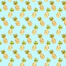 Watercolour Pineapples Pattern by tanyadraws