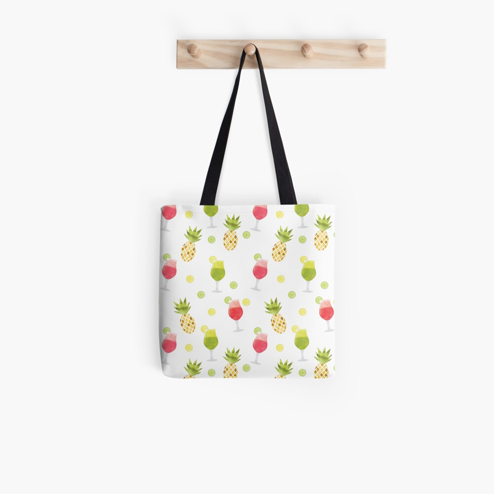 Tasty Tropical Summer Fruits Pattern Tote Bag