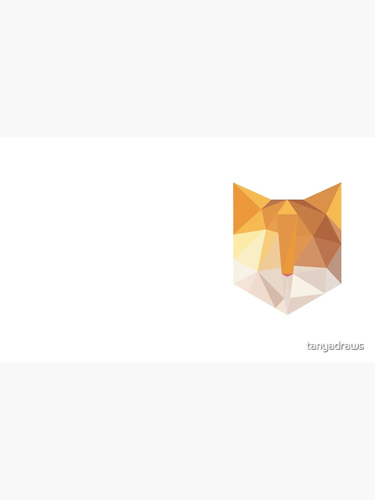 Geometric Orange Cat Face by tanyadraws