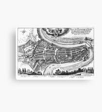 Aerial view of the Old City Bern Canvas Print
