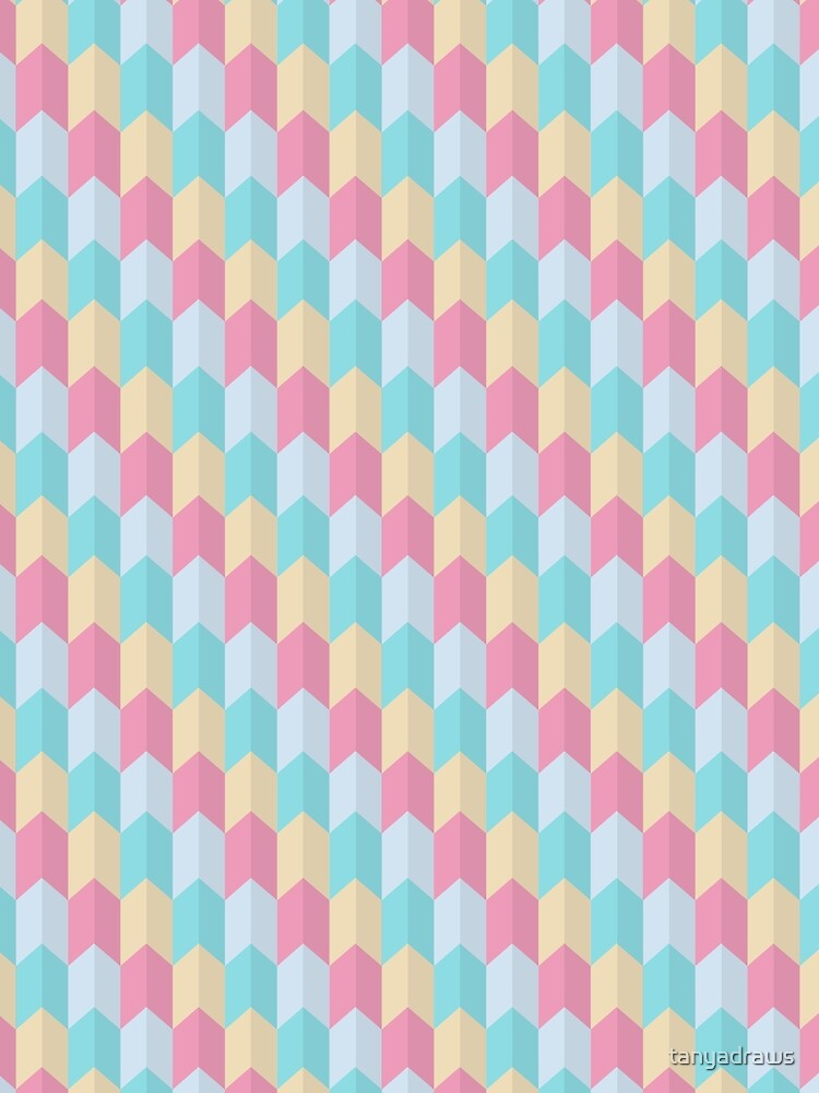 Retro Pastels Geometric Pattern by tanyadraws