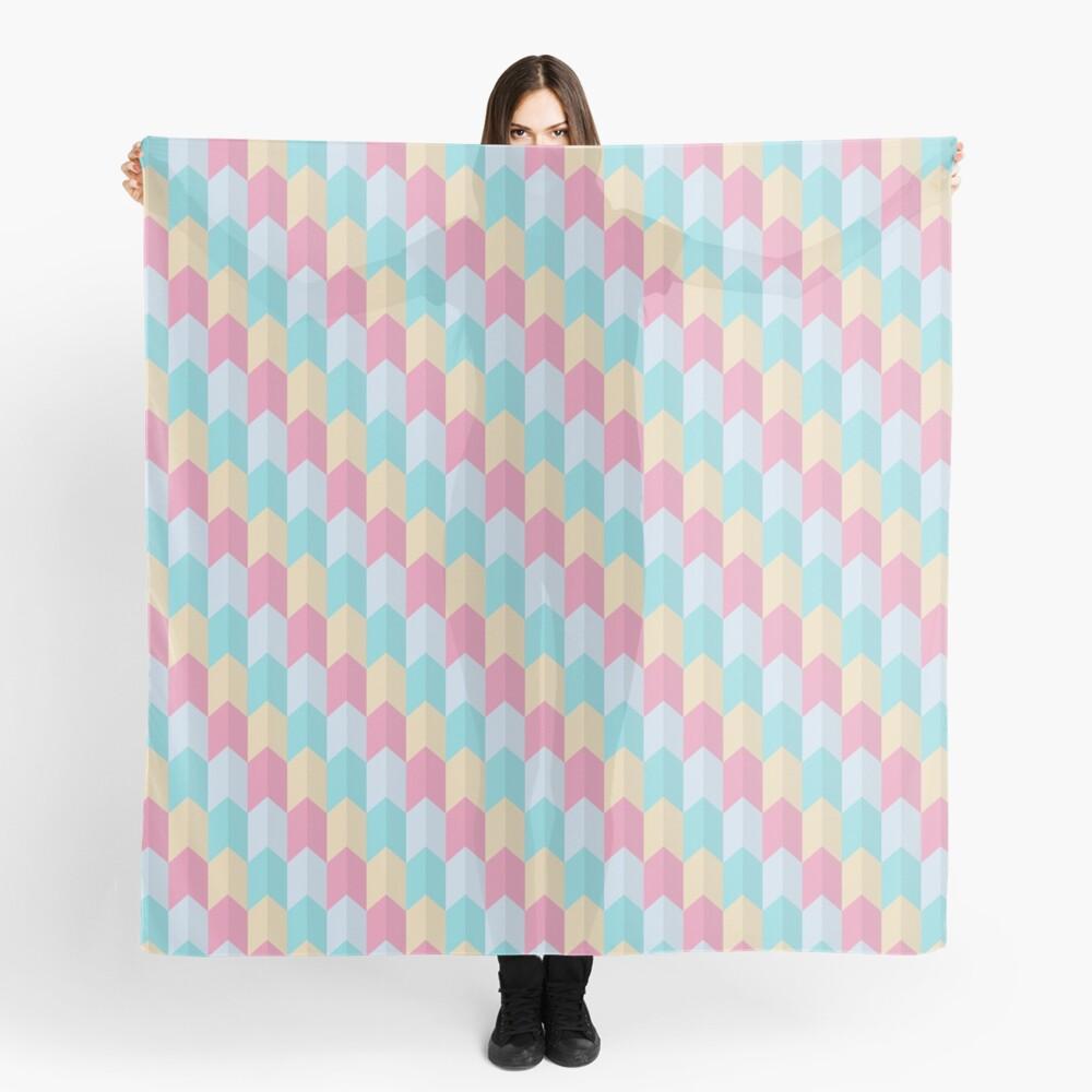 Retro Pastels Geometric Pattern Scarf