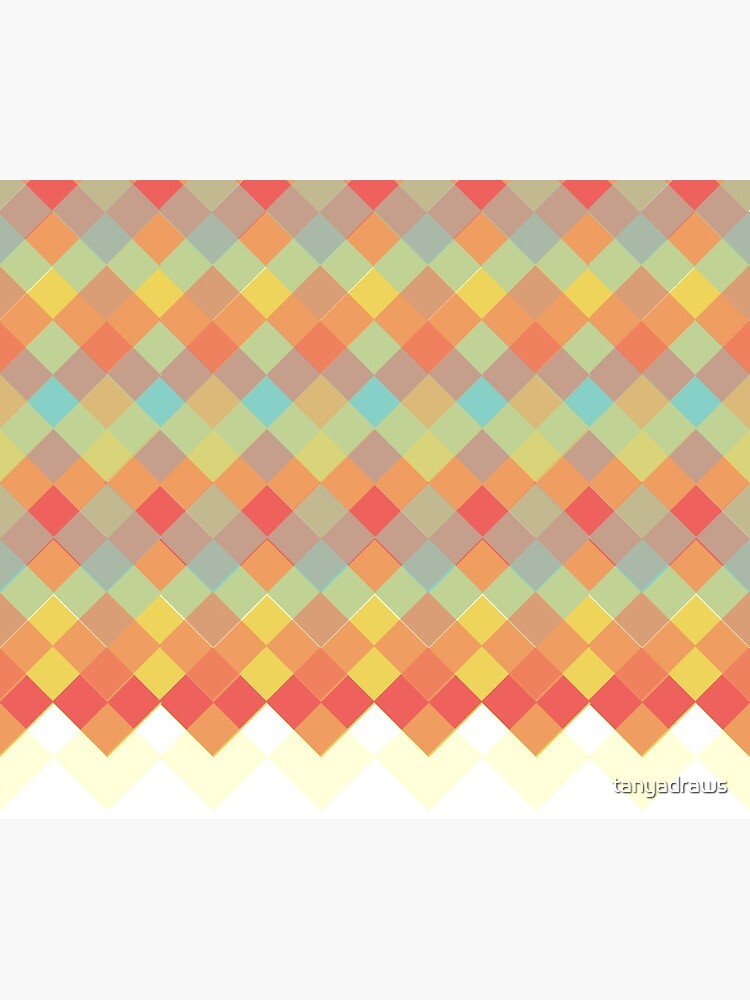 Tri-Colour Geometric Pattern by tanyadraws
