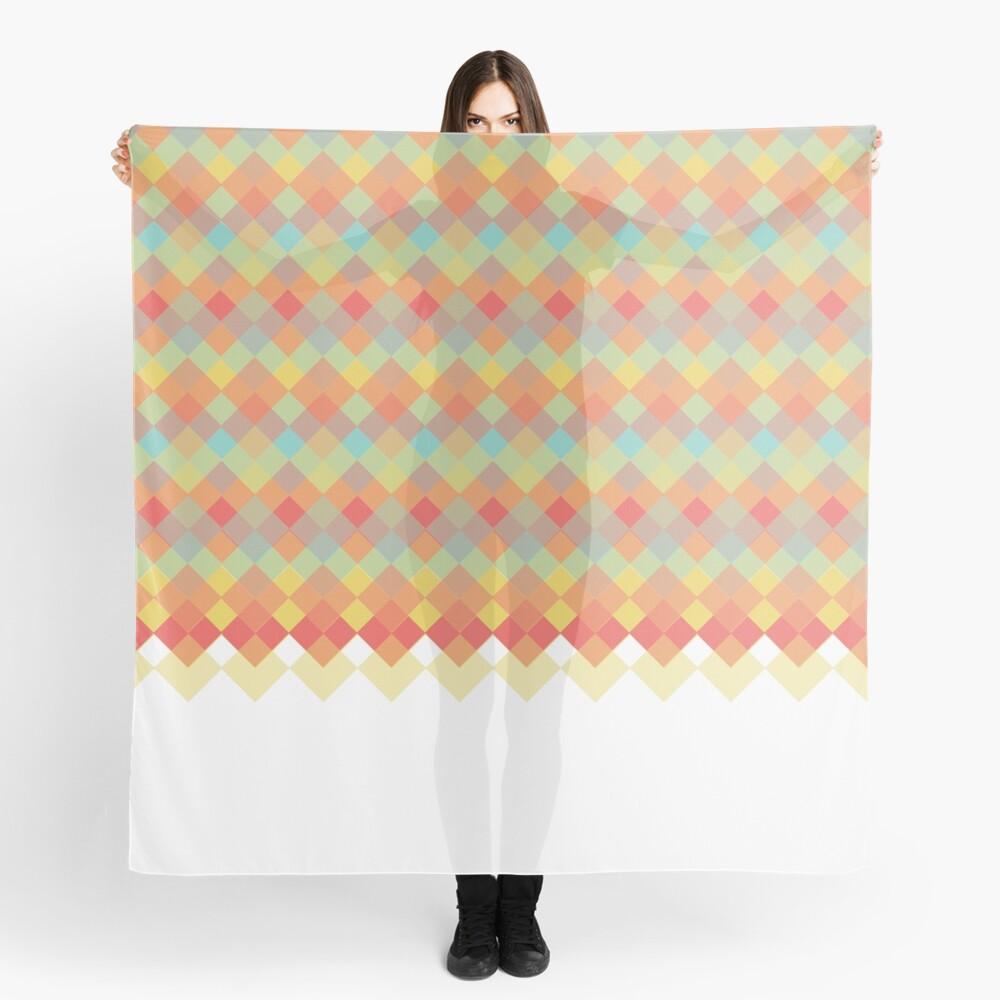 Tri-Colour Geometric Pattern Scarf