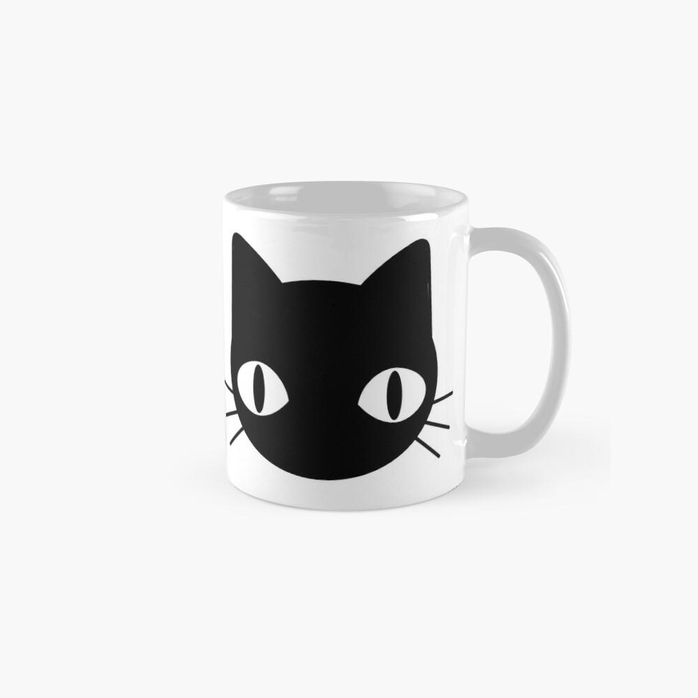 Cute & Freaky Black Cat Face Mug