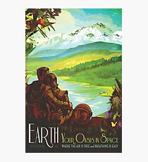 NASA Retro Space Travel Poster #2 - Earth Photographic Print