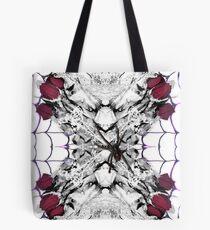 Roses Black Widow Tote Bag