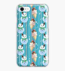Snowman and Icecream Pattern iPhone Case/Skin