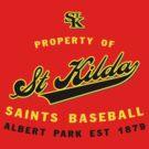 Property of St Kilda Baseball Club Script T-Shirt Red by St Kilda Baseball Club